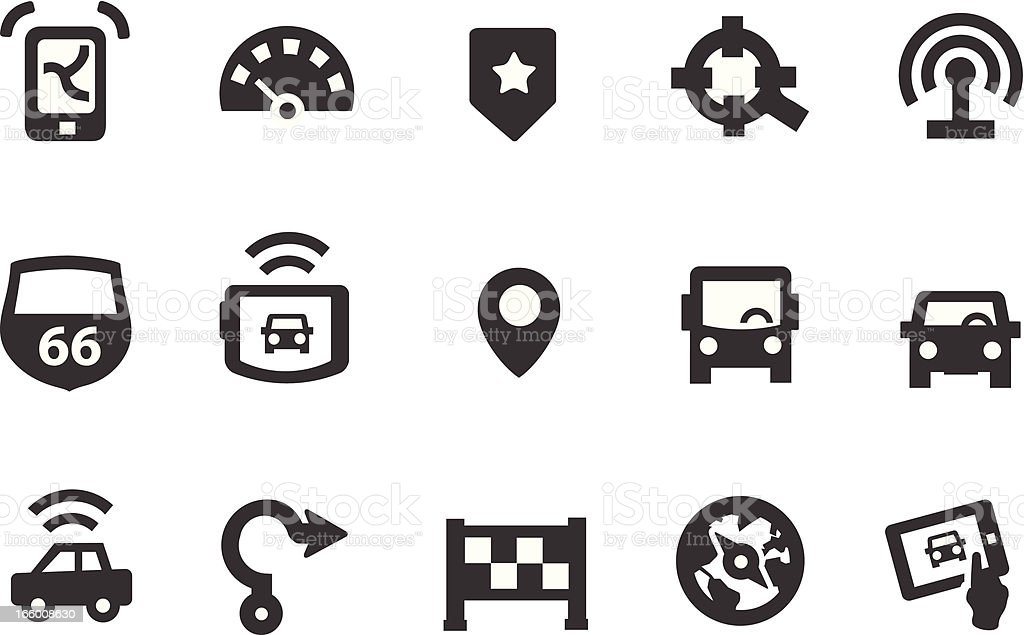Map Icons royalty-free map icons stock vector art & more images of black and white