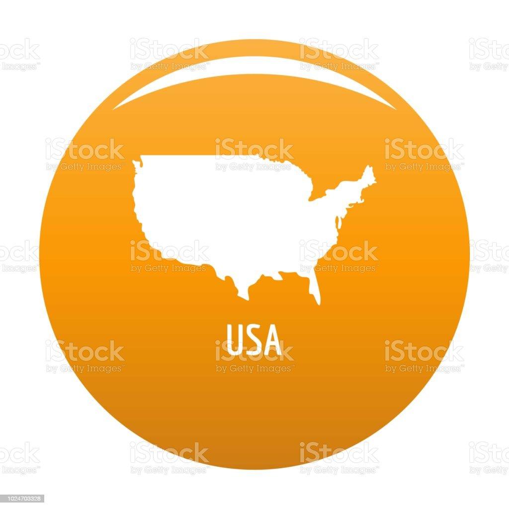 Usa Map In Black Vector Simple стоковая векторная графика