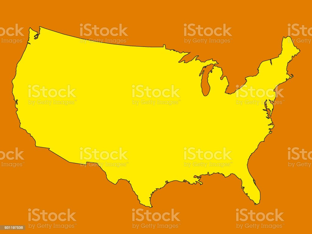 Usa Map In State Colors Of New Hampshire Stock Vector Art More