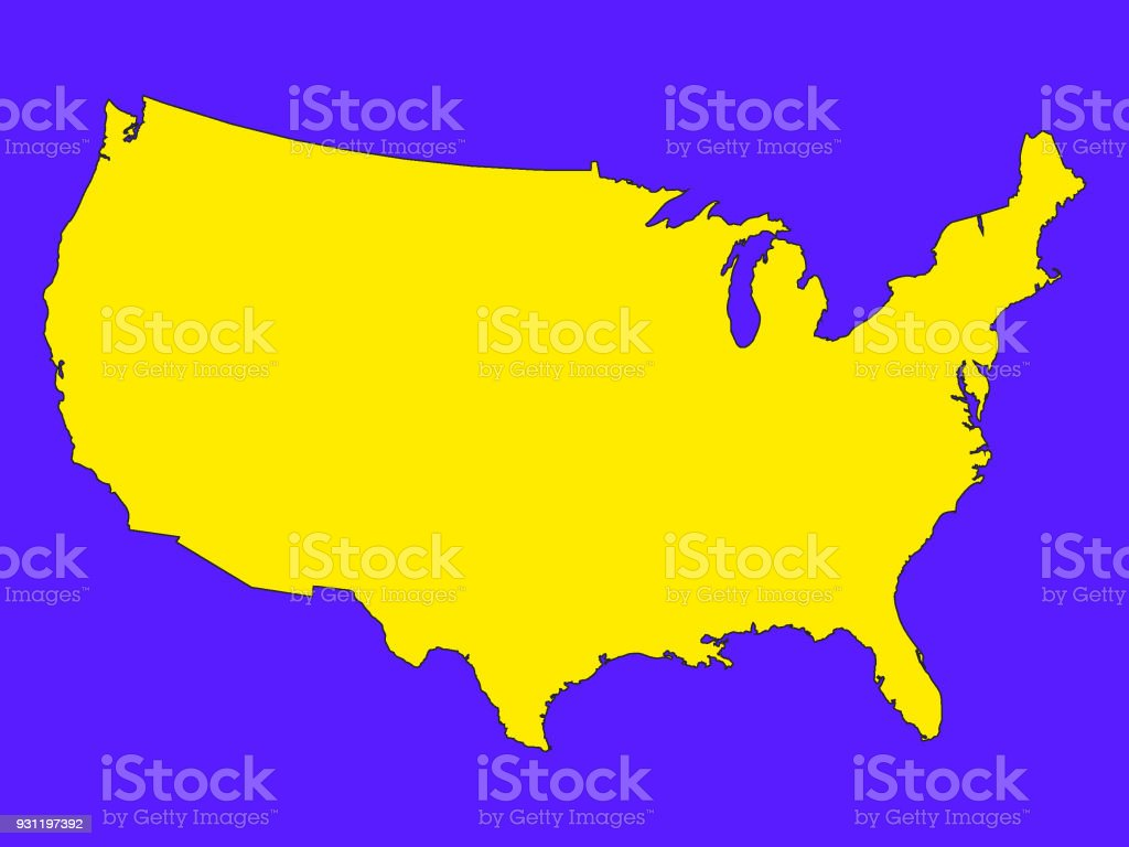 アメリカ 州 地図