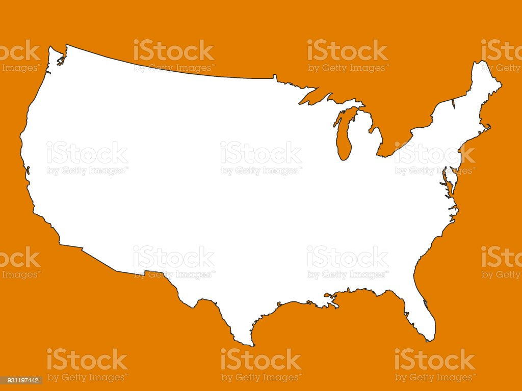 Usa Map In State Colors Of Tennessee Stock Vector Art & More Images ...