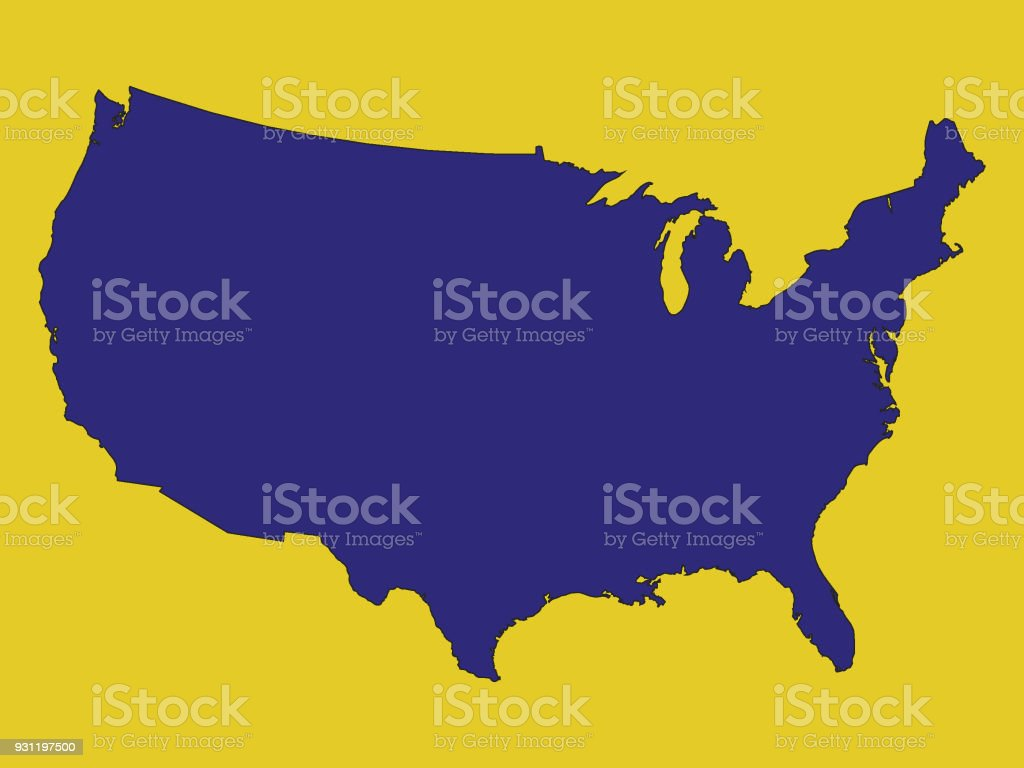 Usa Map In State Colors Of West Virginia Stock Vector Art & More ...