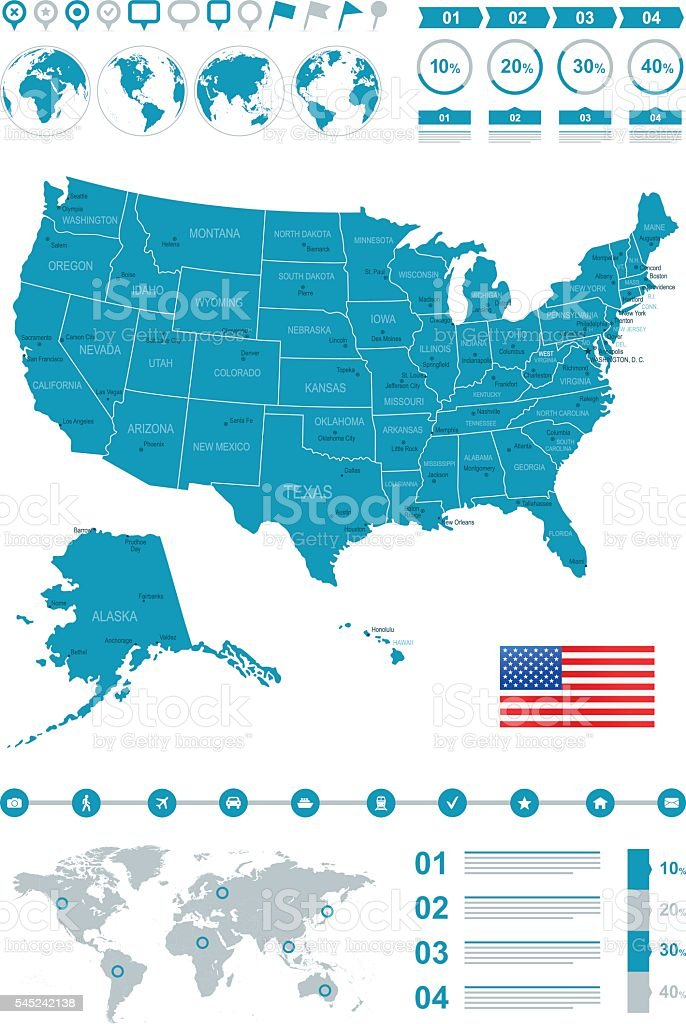 Usa Map Infographic Stock Vector Art & More Images of Alabama - US Infographic Map Of Usa on economy map of usa, sports map of usa, learning map of usa, maps map of usa, print map of usa, bing map of usa, diy map of usa, facebook map of usa, stencil map of usa, interactive map of usa, business map of usa, grid map of usa, diagram map of usa, food map of usa, space map of usa, clip art map of usa, media map of usa, travel map of usa, digital map of usa,