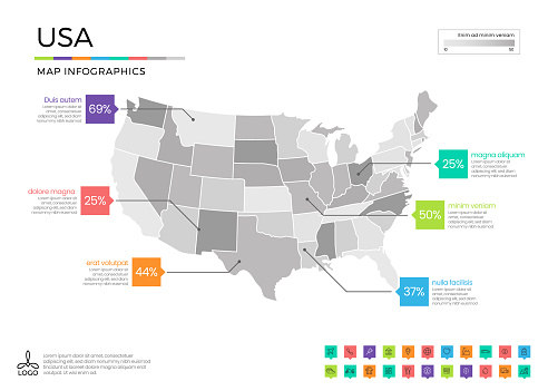 map infographics stock illustrations