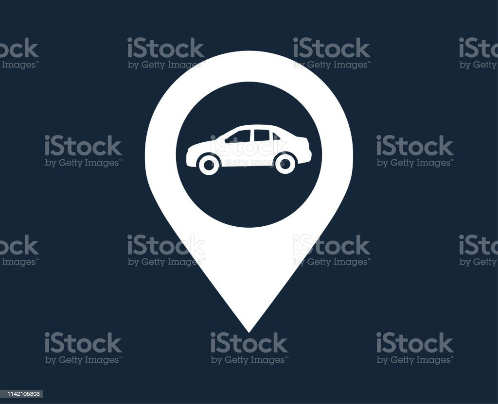 Map location and direction icon symbol