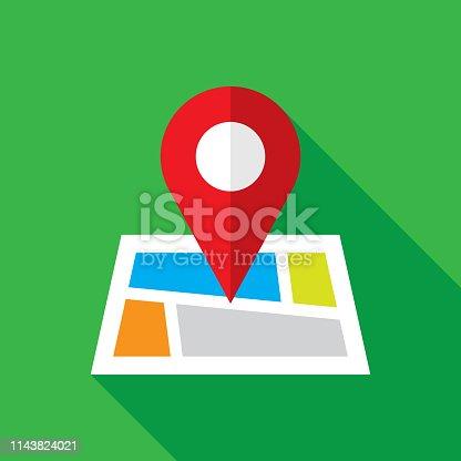 istock Map Location Icon Flat 1143824021