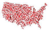 istock USA Map Made of Red Stickman Figures 1212542267