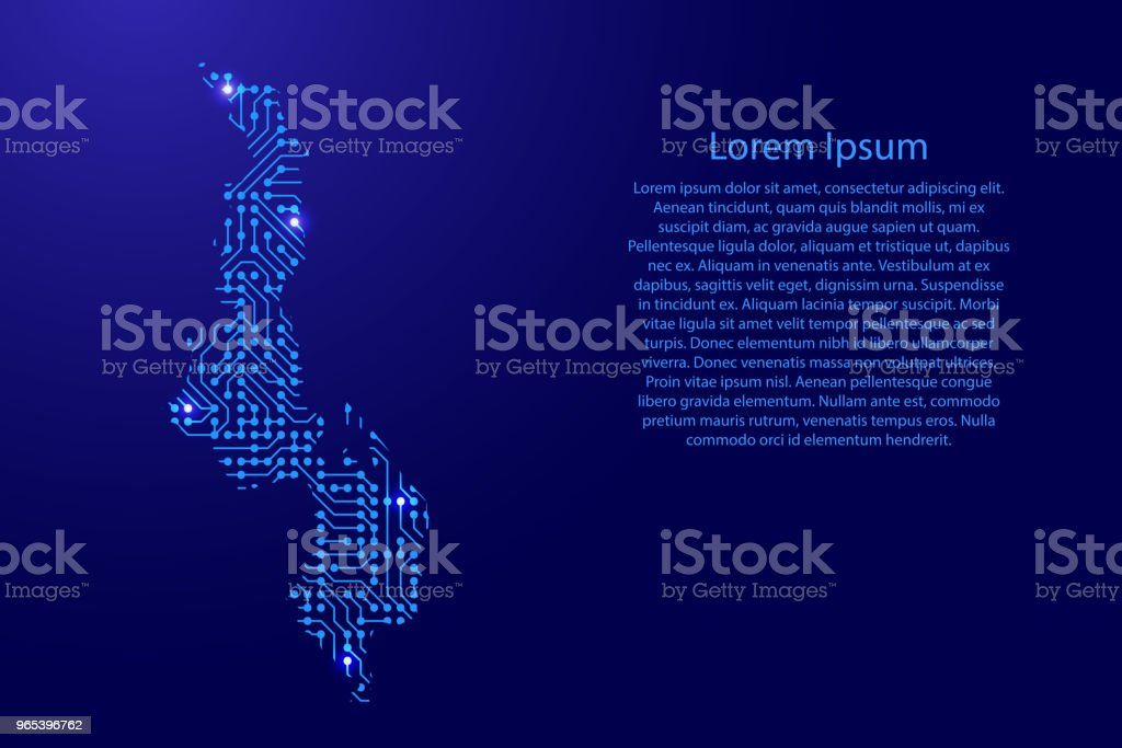Map Malawi from printed board, chip and radio component with blue star space on the contour for banner, poster, greeting card. Computer electronics processor motherboard. Vector illustration. royalty-free map malawi from printed board chip and radio component with blue star space on the contour for banner poster greeting card computer electronics processor motherboard vector illustration stock vector art & more images of abstract