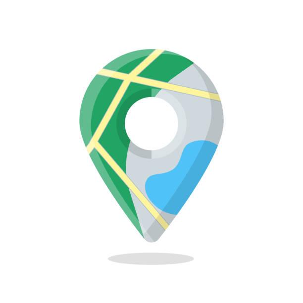 harita işaretleyici iğne, işaretçi simgesi - google stock illustrations