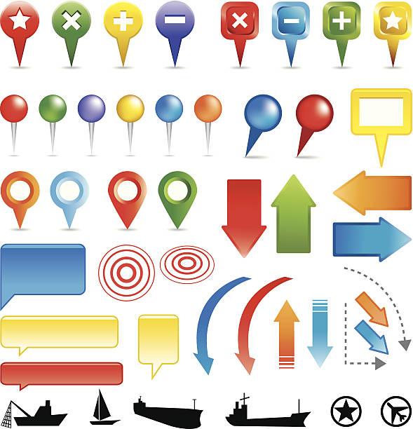 Bunte Karte Marker – Vektorgrafik