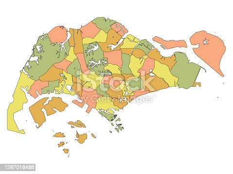 istock Map of Administrative Division of Singapore 1267018488