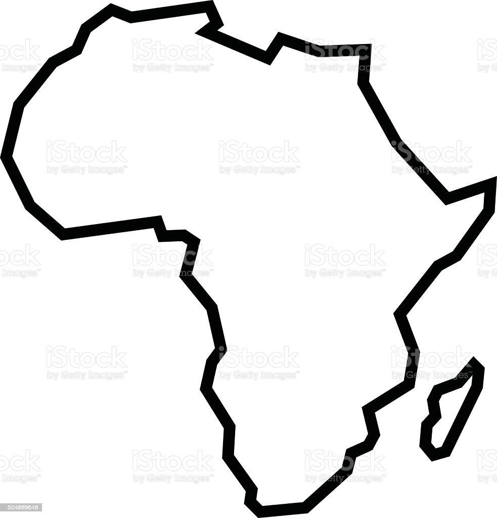 Karte von Afrika – Vektorgrafik