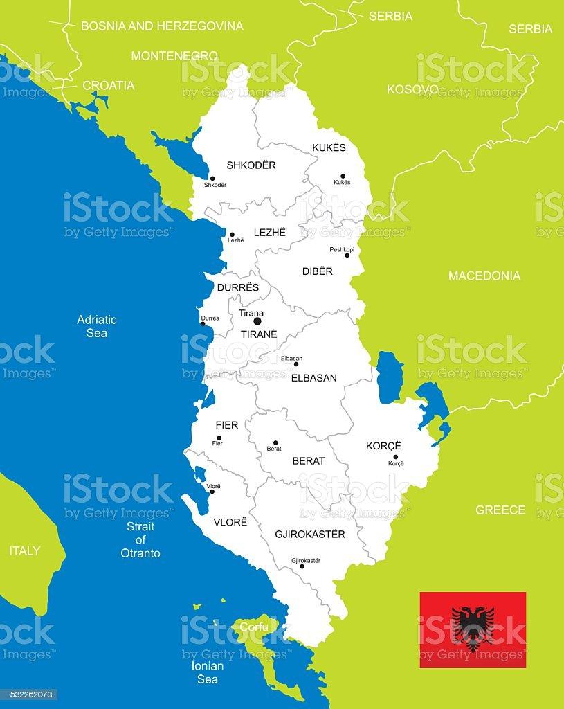 Cartina Di Albania.Mappa Di Albania Immagini Vettoriali Stock E Altre Immagini Di