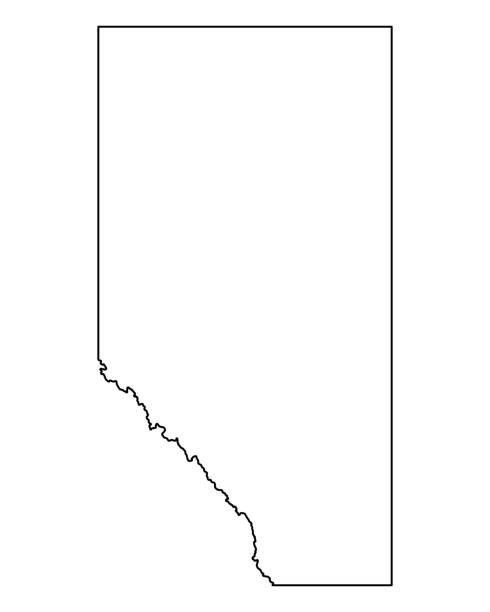 Map of Alberta Map of Alberta alberta stock illustrations