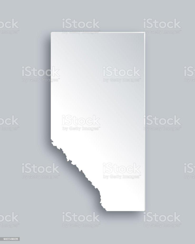 Map of Alberta vector art illustration