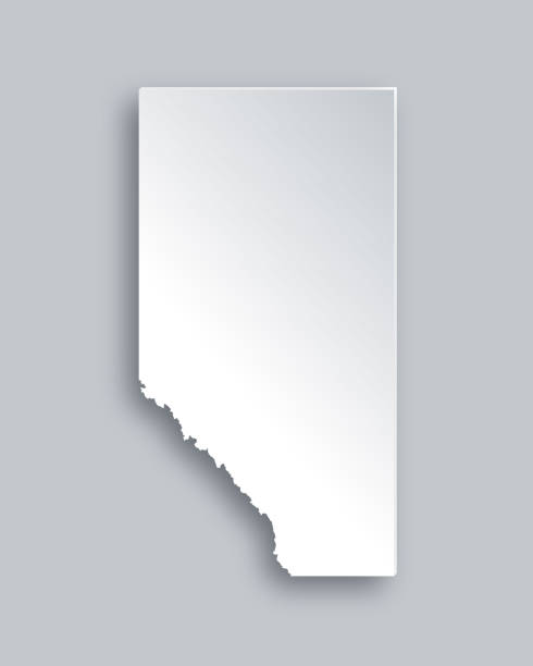 Map of Alberta vector art illustration