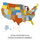 Map of all the counties in the USA