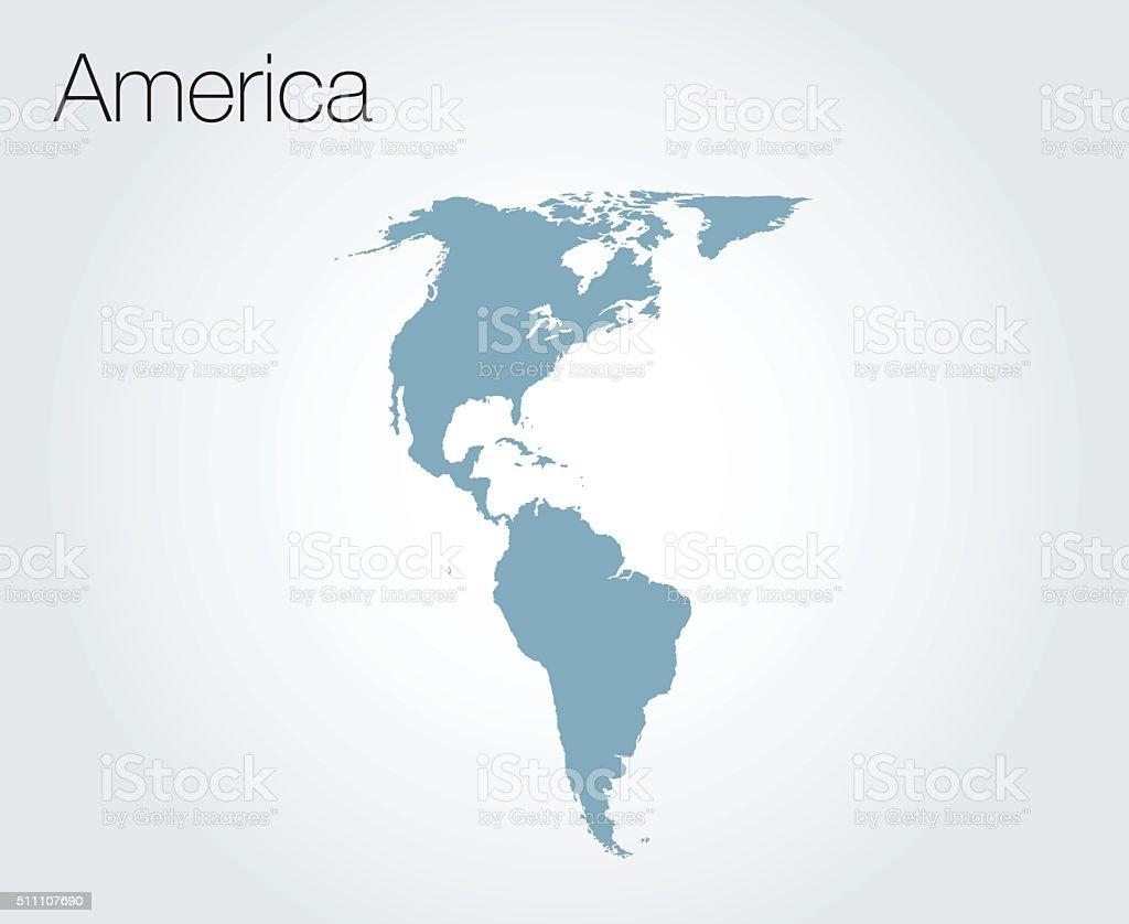 Map of America vector background vector art illustration