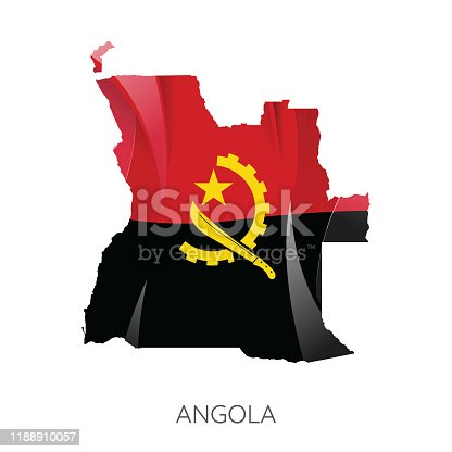 istock Map of Angola 1188910057