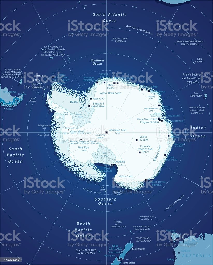 マップの南極 ベクターアートイラスト
