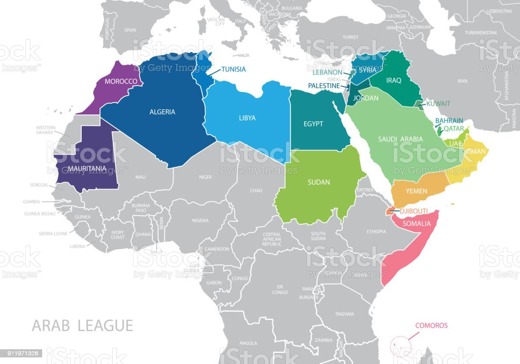 Picture of: Map Of Arab League Stock Illustration Download Image Now Istock