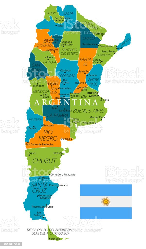 Where Is Buenos Aires On A World Map.Map Of Argentina Vector Stock Vector Art More Images Of Argentina