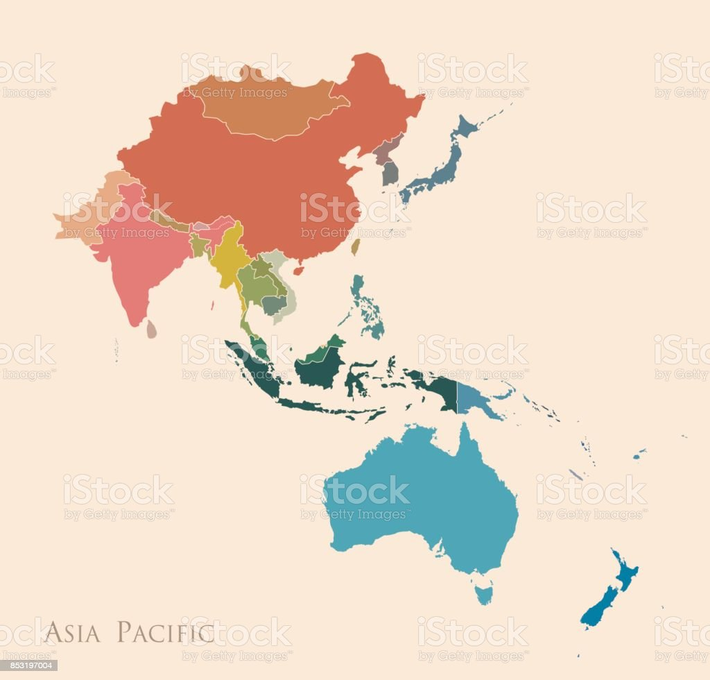 アジア太平洋地域の地図 - アジア大陸のベクターアート素材や画像を ...