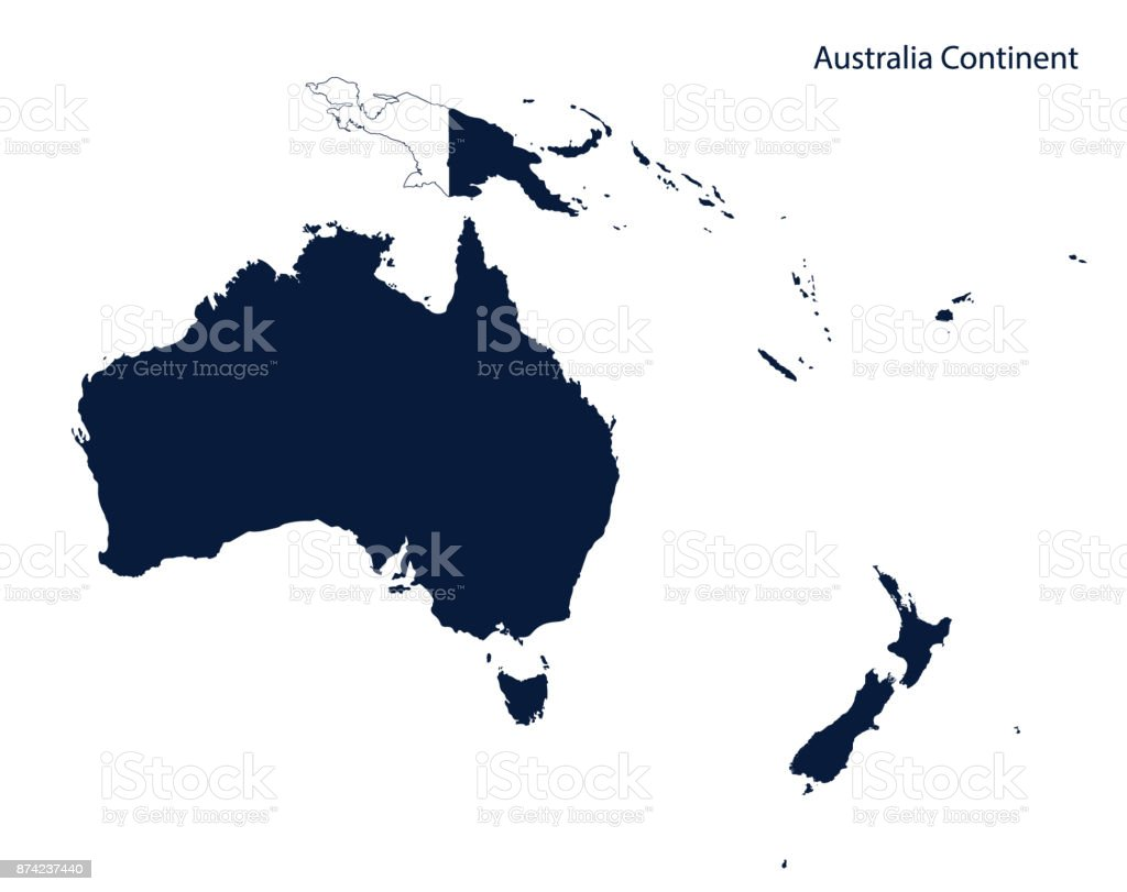 map of australia and oceania continent stock vector art more