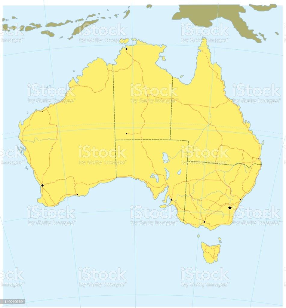 Map of Australia royalty-free stock vector art