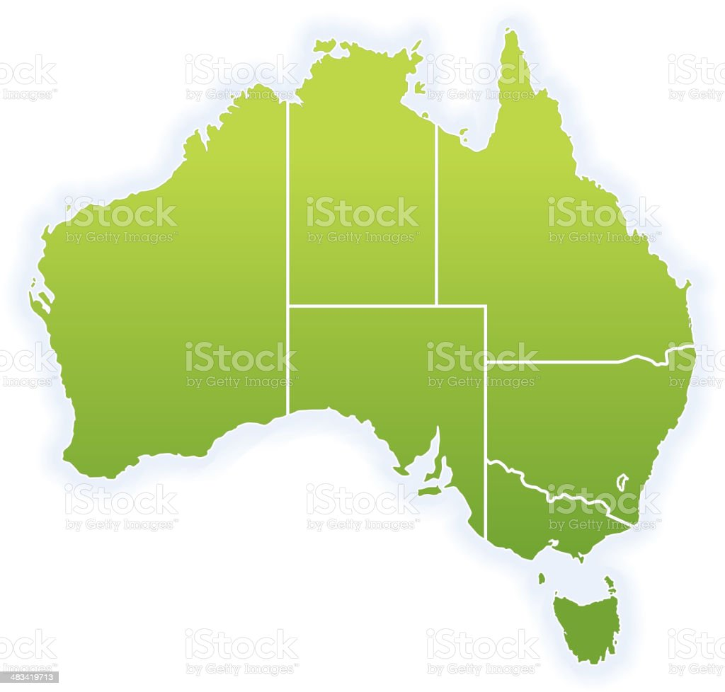 Map of Australia royalty-free stock vector art