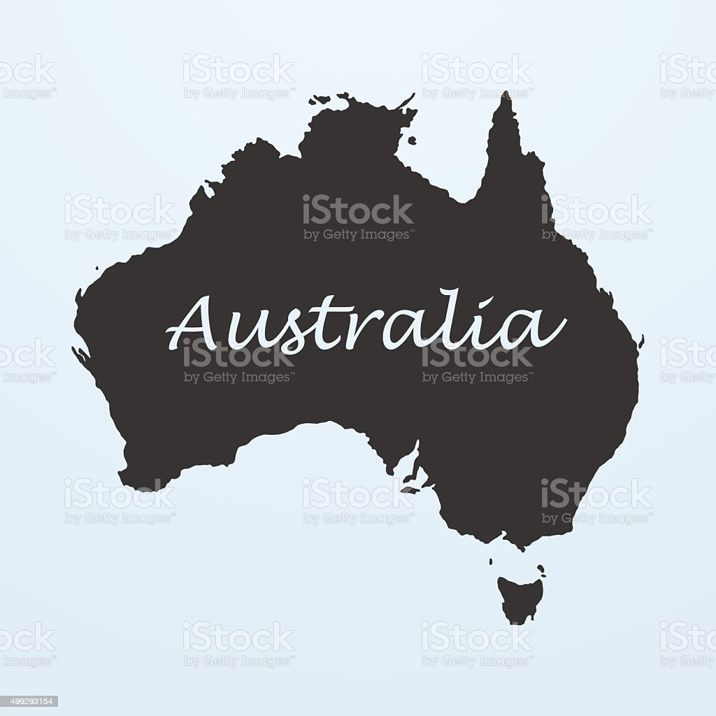 Map Of Australia Stock Vector Art More Images Of 2015 499293154
