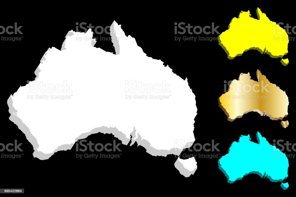 Free 3d Map Of Australia.3d Map Of Australia Stock Illustration Download Image Now Istock