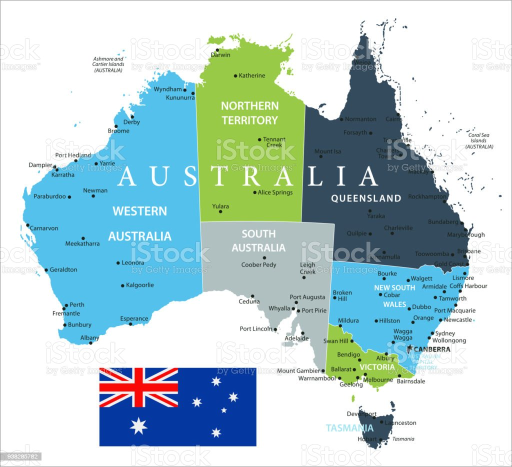 Map Of Australia Vector Stock Vector Art More Images Of Adelaide