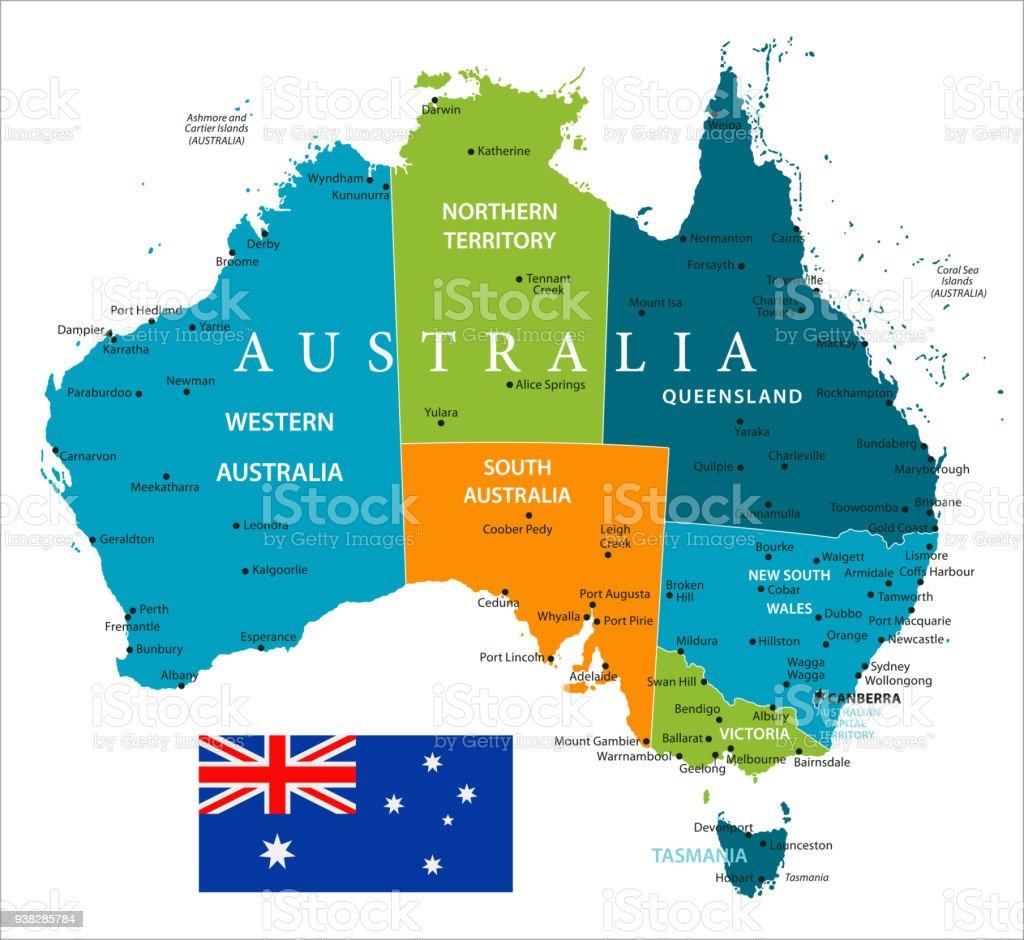Map Adelaide Australia.Map Of Australia Vector Stock Vector Art More Images Of Adelaide
