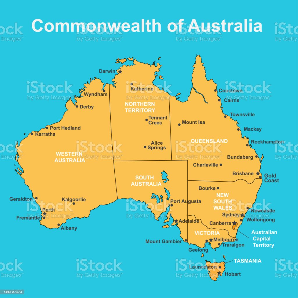 Map Of Victoria Australia With Cities.Map Of Victoria Australia With Cities