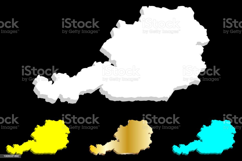 3d Karte Osterreich.3d Karte Von Osterreich Stock Vektor Art Und Mehr Bilder Von