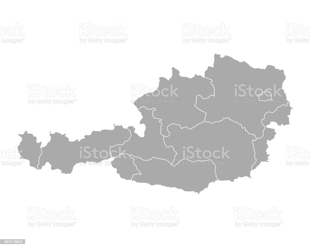 Map of Austria vector art illustration