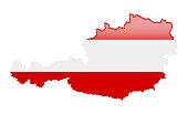 Map of Austria. Vector Illustration