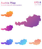 Map of Austria with beautiful gradients.