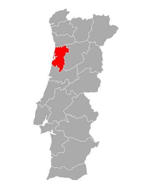 ilustrações de stock, clip art, desenhos animados e ícones de map of aveiro in portugal - aveiro