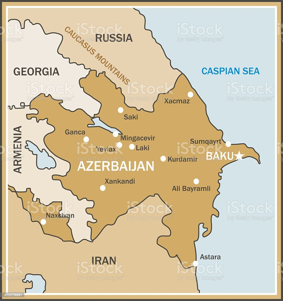 Map of Azerbaijan royalty-free map of azerbaijan stock vector art & more images of armenia - country