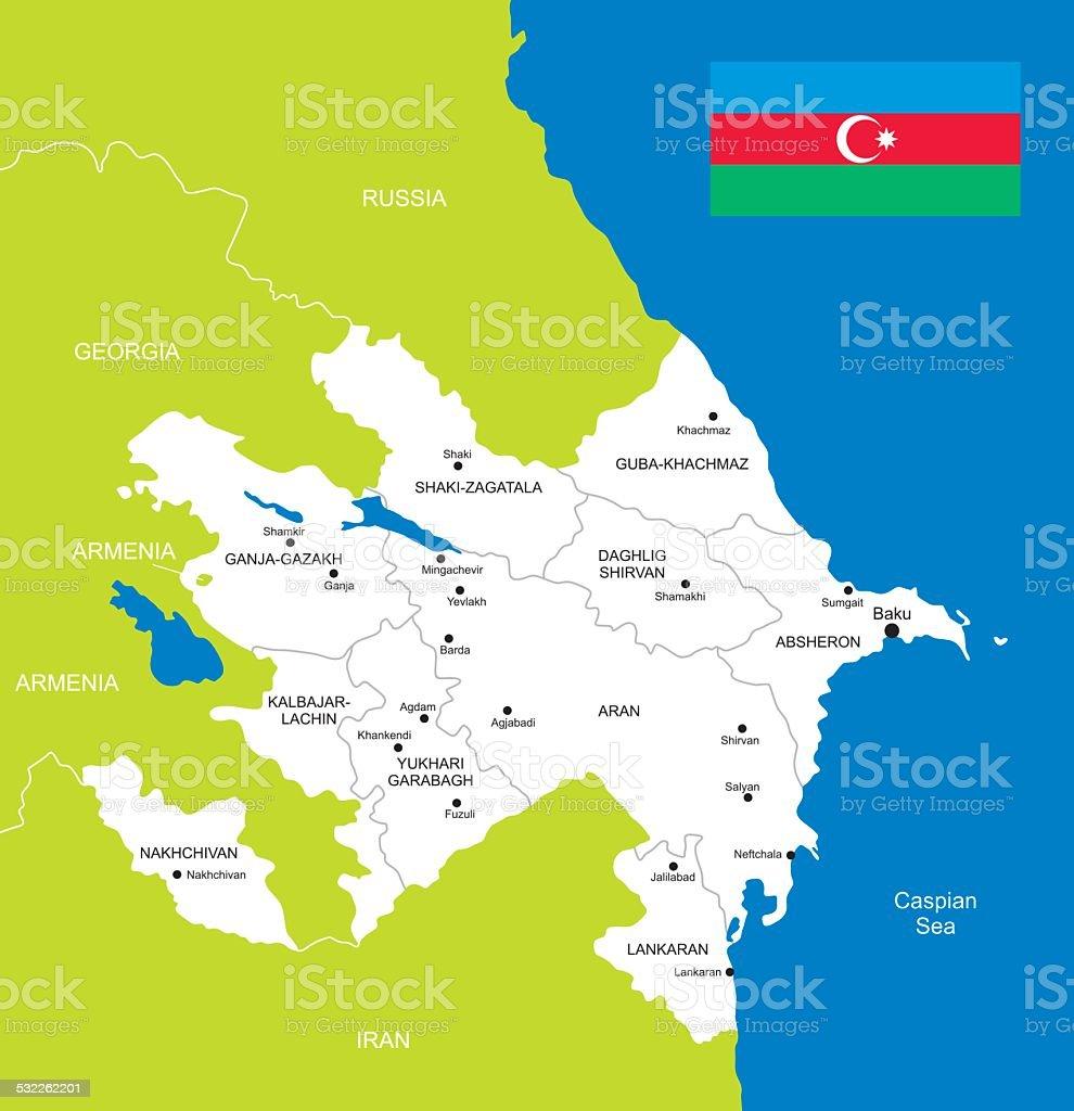 Karte Von Aserbaidschan Stock Vektor Art Und Mehr Bilder Von 2015 Istock
