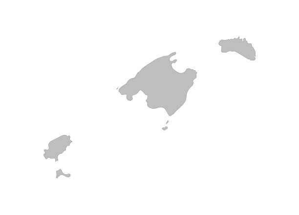 ilustrações de stock, clip art, desenhos animados e ícones de mapa das ilhas baleares - ibiza