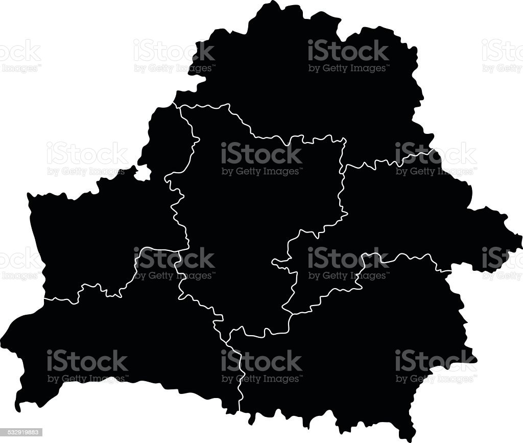 Map of Belarus vector art illustration