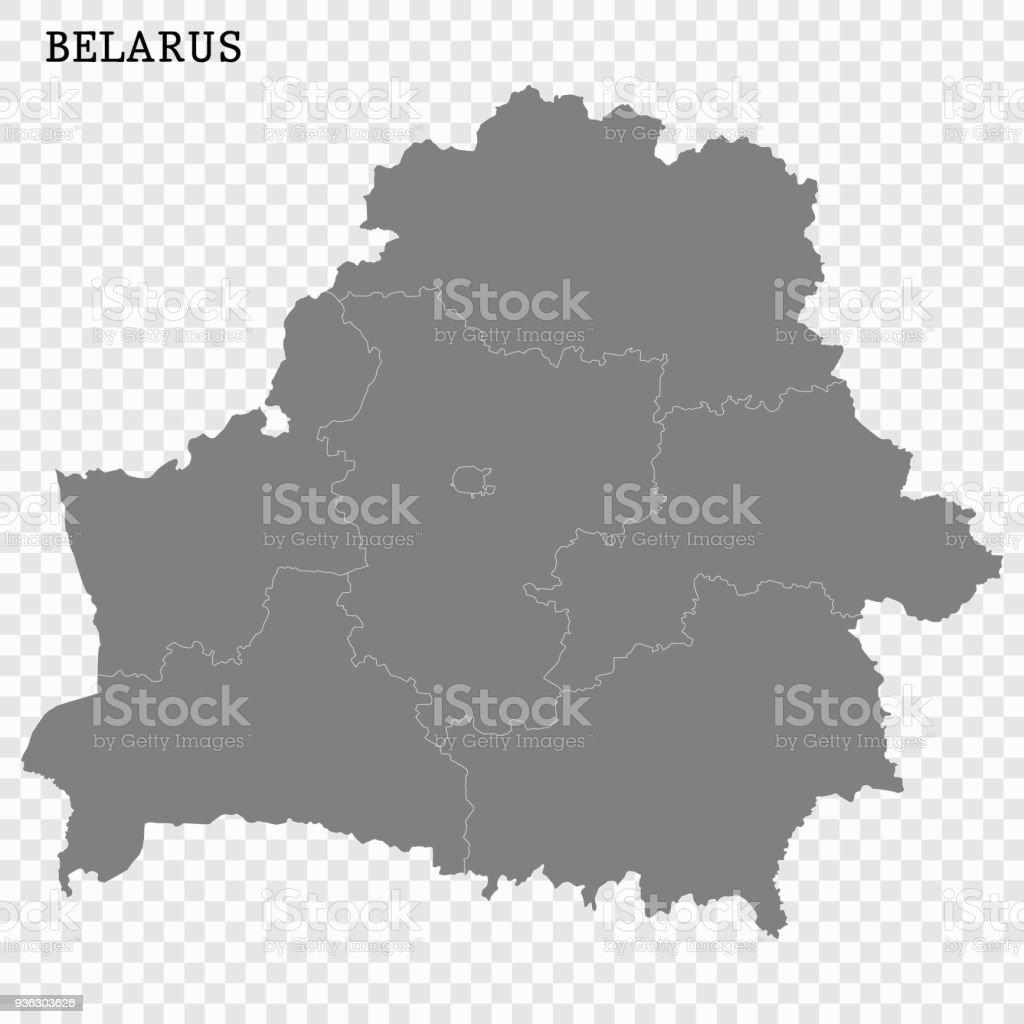 Map of Belarus vector art illustration