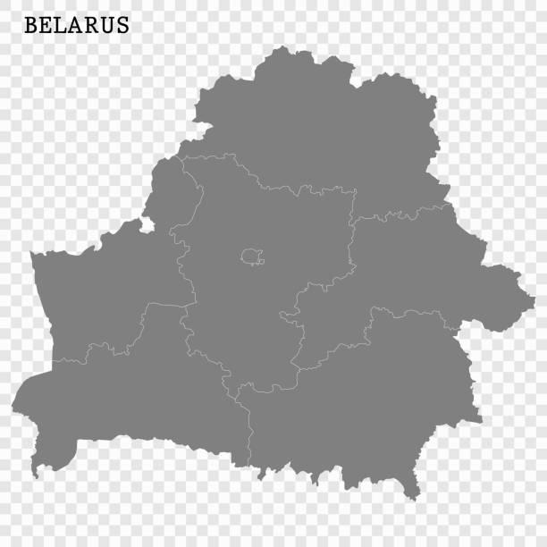 karte von belarus - weißrussland stock-grafiken, -clipart, -cartoons und -symbole