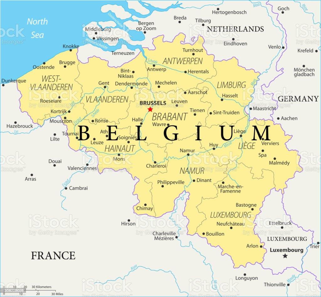 Map Of Belgium Vector Stock Vector Art More Images Of Antwerp City