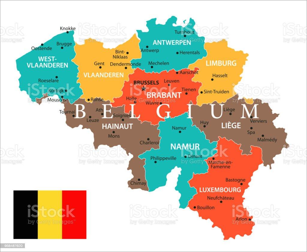 meer belgie kaart Kaart Van België Vector Stockvectorkunst en meer beelden van