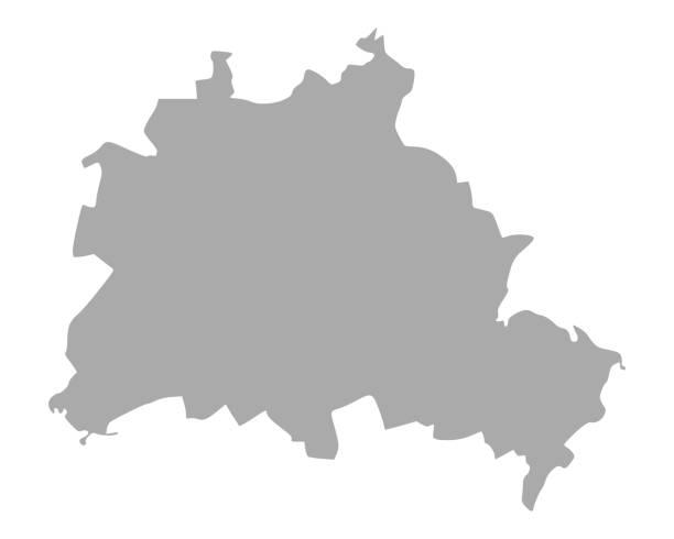 베를린의 지도 - 베를린 stock illustrations