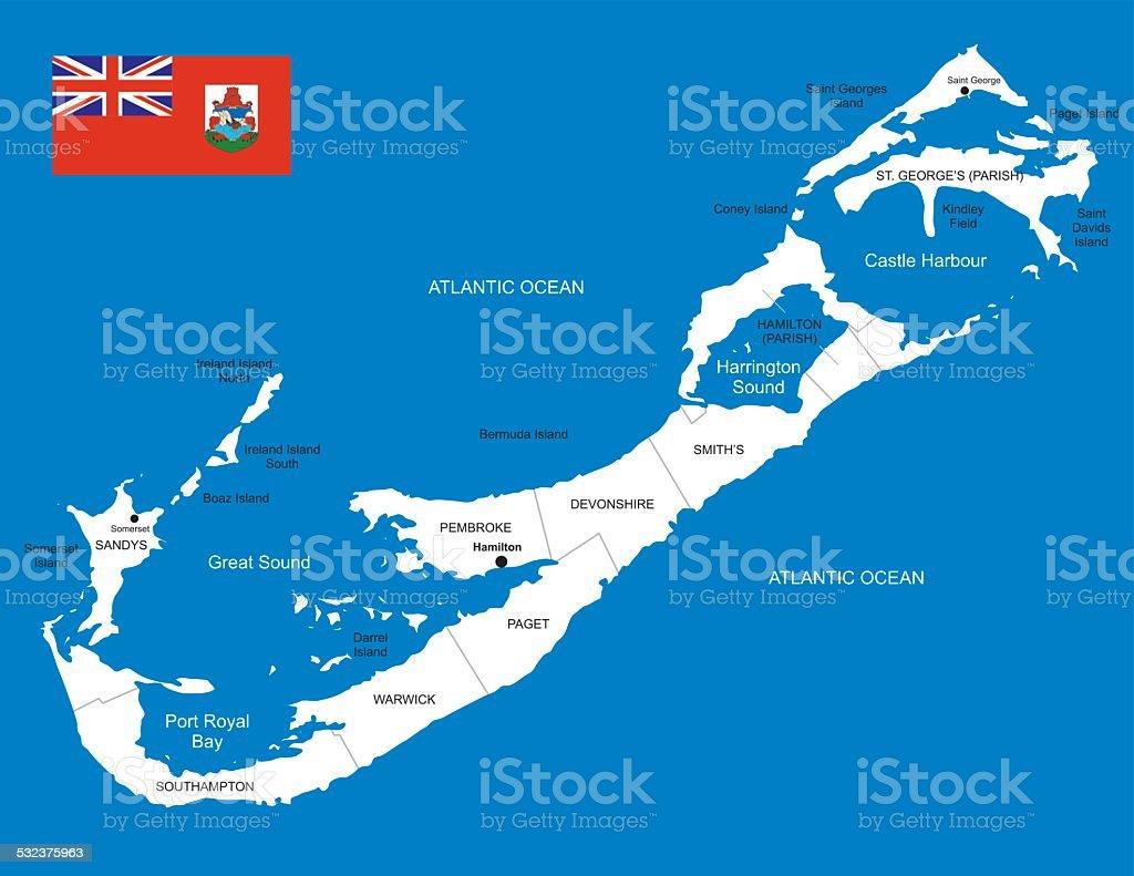 Map Of Bermuda Stock Vector Art & More Images of 2015 532375963 | iStock